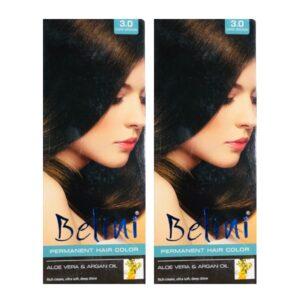 Belini Dark Brown Hair Color Pack of 2